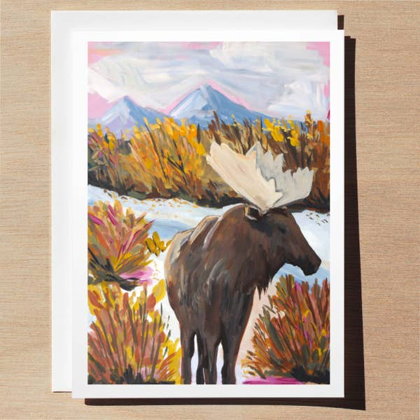 Moose Card - Wildlife Collection Wl0013