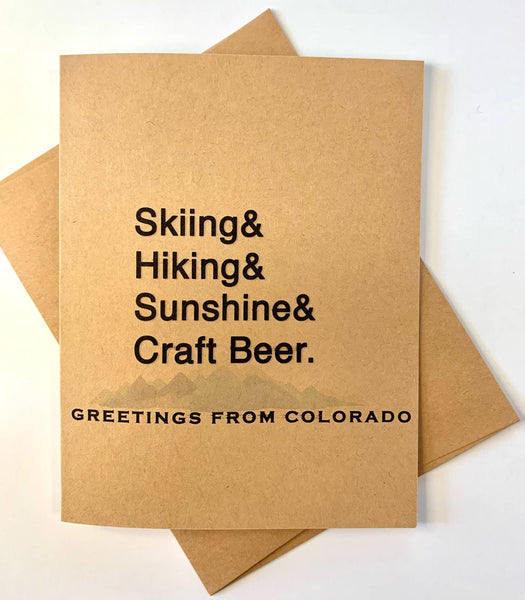 Skiing& Hiking& Sunshine& Craft Beer