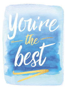 Tkg-You'Re The Best On Watercolor Wash 81150