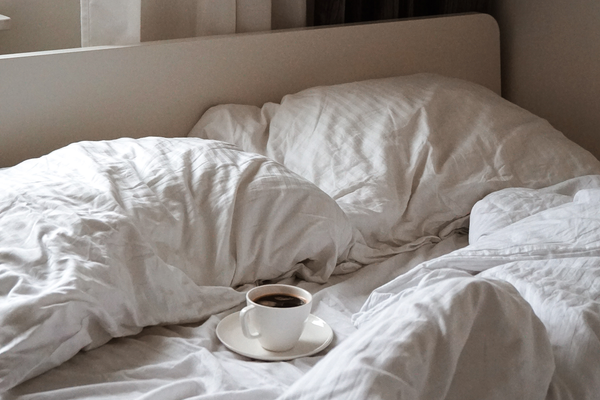 coffee in bed for best sleep