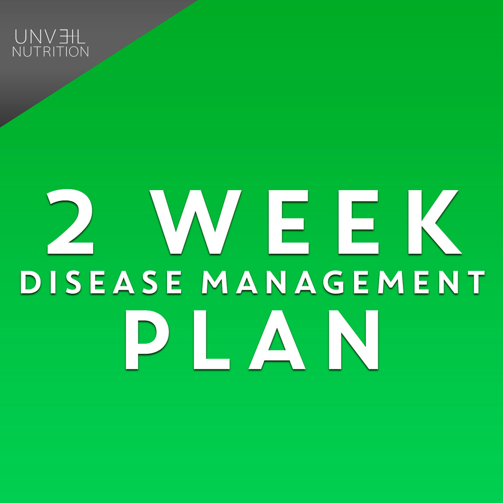 2 WEEK RAW DIET/DISEASE MANAGEMENT PLAN