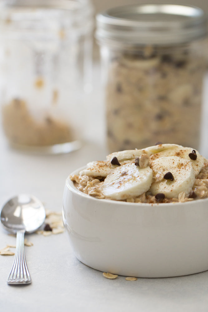 Banana and Chocolate Chip Overnight Oats