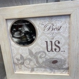 The Best of Us Ultrasound Gender Reveal Frame