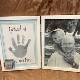 Grandpa Hinged Handprint & Picture Frame