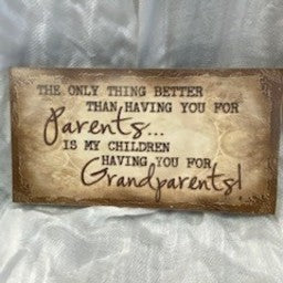 Parents & Grandparents Sign