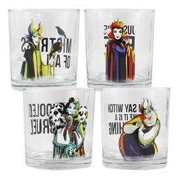Disney Villains 10 oz Glasses - Set of 4