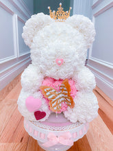 Load image into Gallery viewer, White Valentines Rose Bear