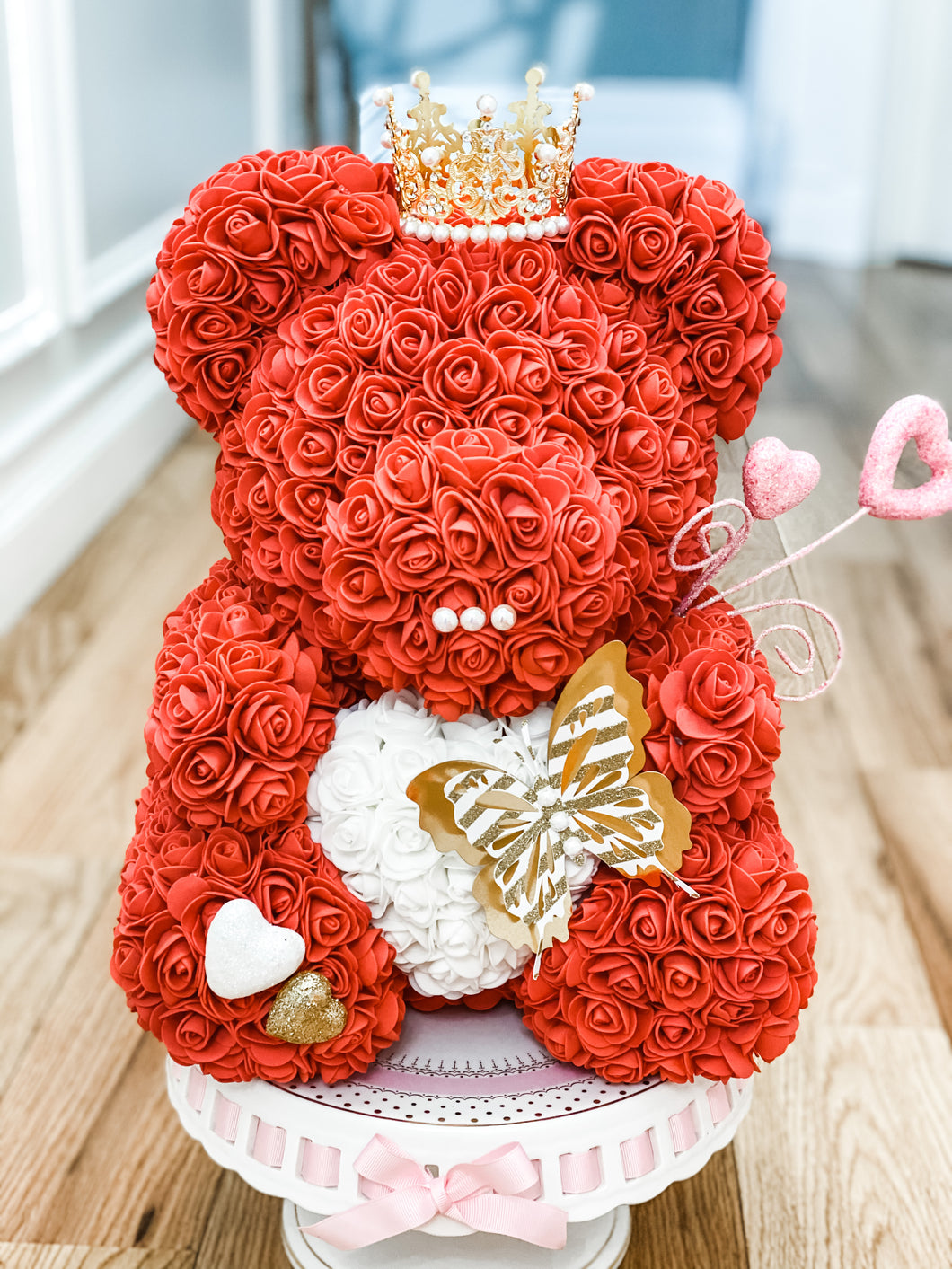 Red Valentines Rose Bear