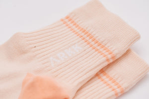 ARKK Accessories The Low Sock Shell Pink Bright Peach Socks Shell Pink Bright Peach