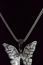 Load image into Gallery viewer, Butterfly White Gold Pendent