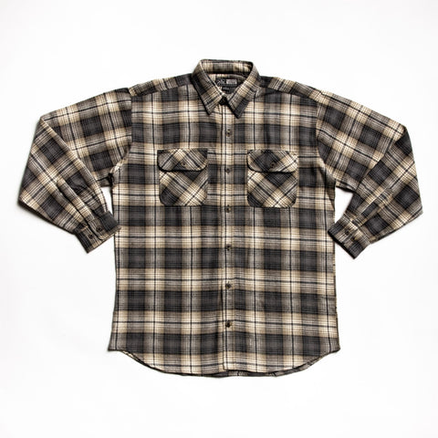 Tan and brown juneau flannel