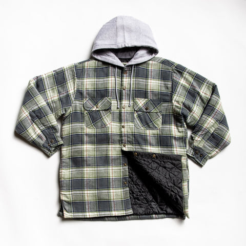 Olive-gray providence shirt jacket