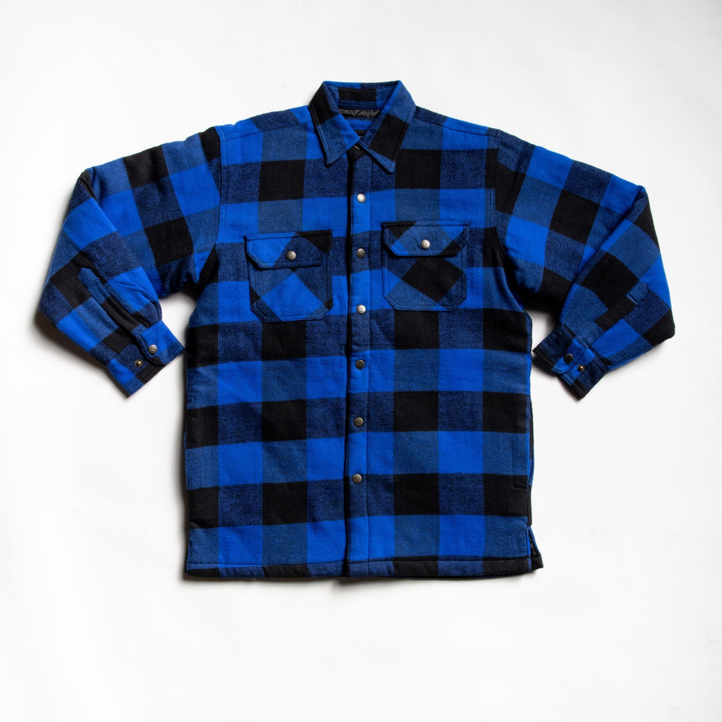 Expertly crafted blue flannel