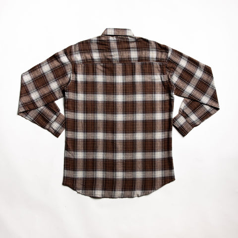 Rust and brown flannel