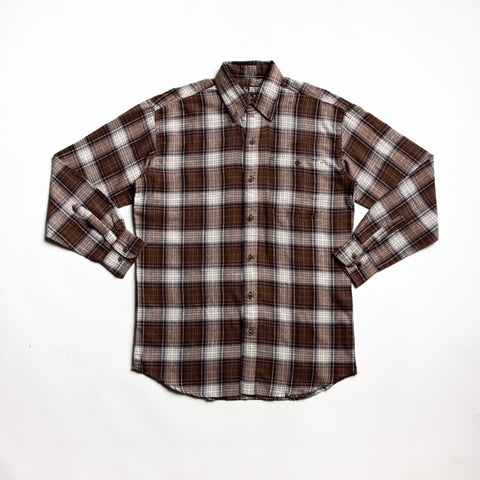 Brown and rust flannel