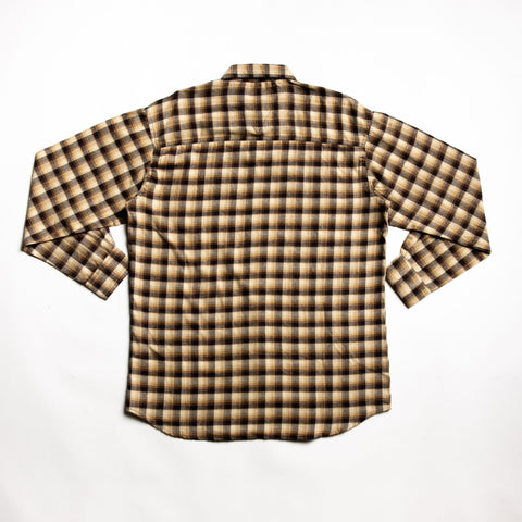 High quality brown flannel