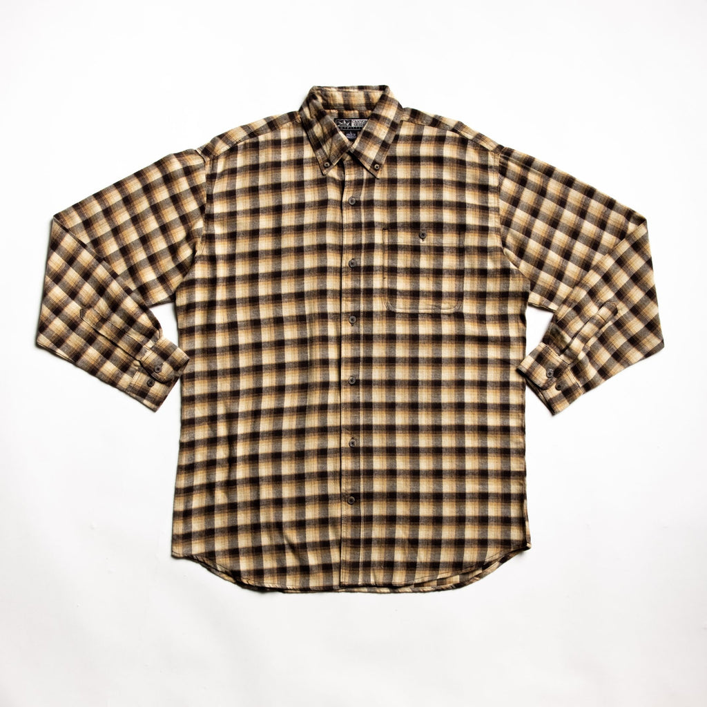Well crafted brown flannel