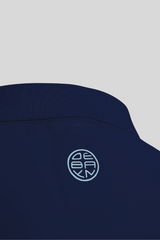 Polo Navy Menton Debayn Embroidered Logo Back