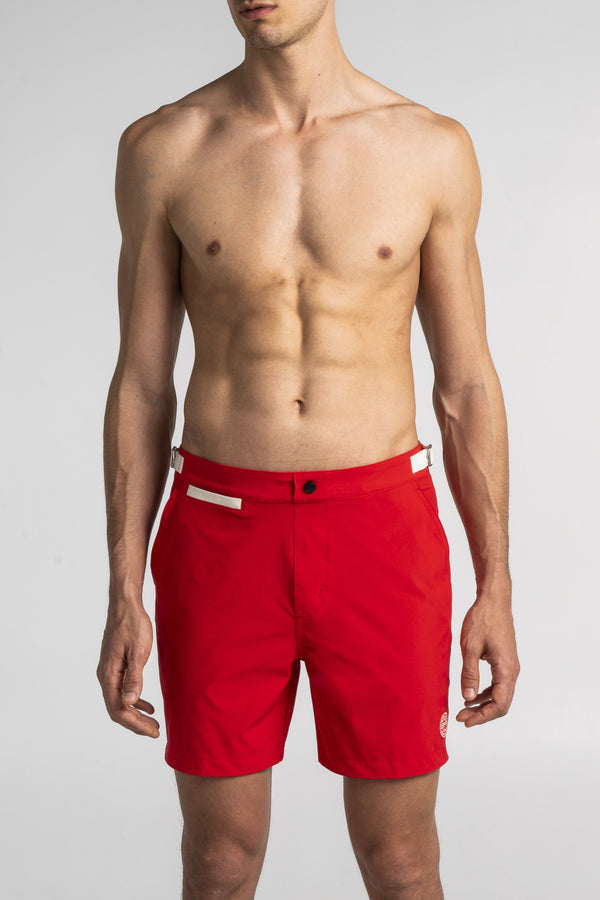 Dark Red Swim Shorts Debayn Men's Swimwear