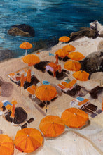 Load image into Gallery viewer, Orange umbrellas in Amalfi