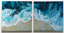 Load image into Gallery viewer, Ocean above diptych