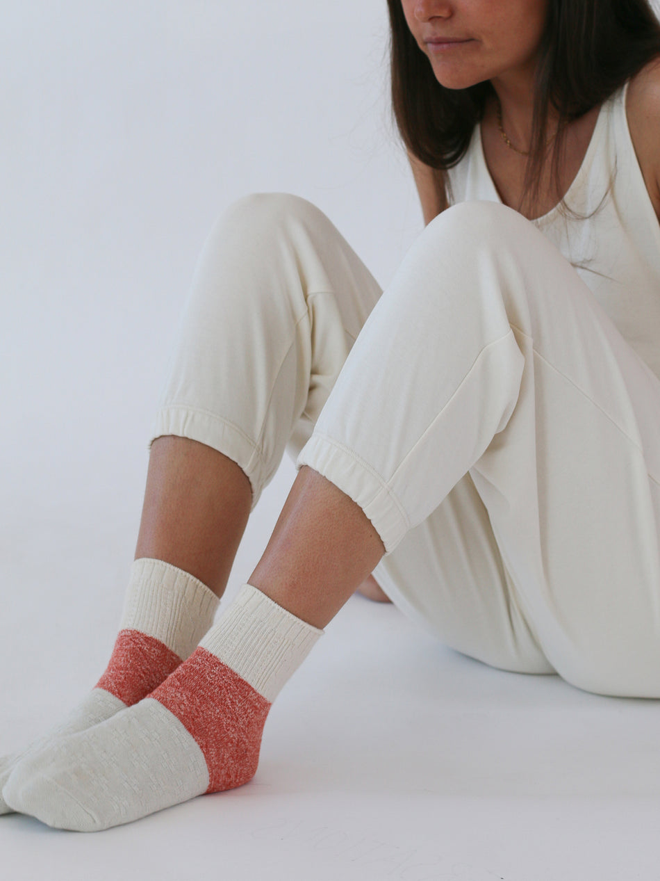 Upcycled Colorblock Sock
