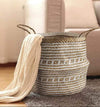 Made Terra Belly Basket Belly Basket with Handles | Woven Baskets for Laundry Storage & Home Supplies (Small)