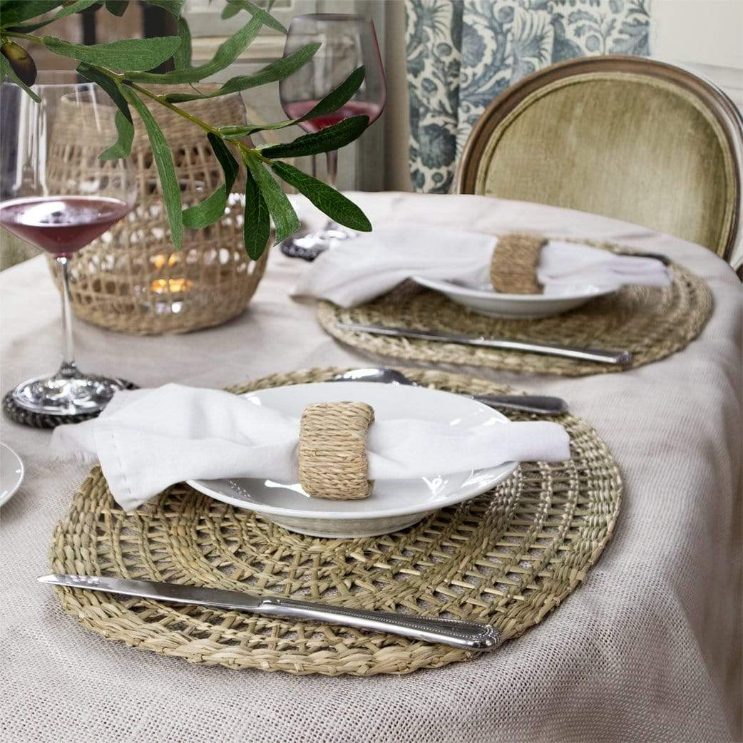 Made Terra Oval Placemats Are Made Of Seagrass A Plant Thatƒ S Sustainably Grown And Easy To Harvest Seagrass Is Widely Used By Vietnamese Artisans To Make Tableware Dinnerwares And Home Decor Furniture