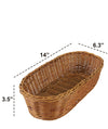 Made Terra Serving basket Oval Wicker Serving Baskets | For Restaurant Serving & Tabletop Display (15-inch)
