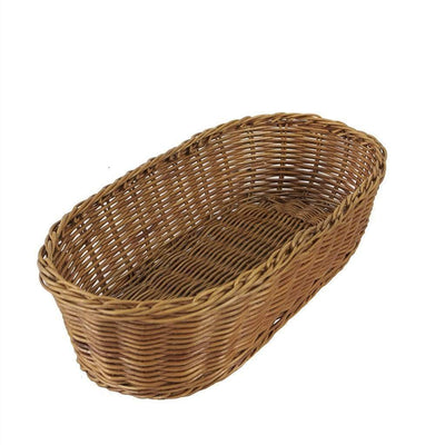 Made Terra Serving basket Set of 1 Oval Wicker Serving Baskets | For Restaurant Serving & Tabletop Display (15-inch)
