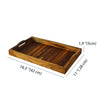 Made Terra Serving Tray Wooden Serving Tray w Handles | Ottoman Tray, Wood Tray, Wood Serving Tray