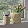 Made Terra Storage basket Circle Woven Wall Hanging Baskets for Storage and Plant Pot Cover