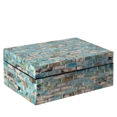 Made Terra Storage Box Mother of Pearl Inlay Multi Functional Storage Box Organisers with Lid for Small Items