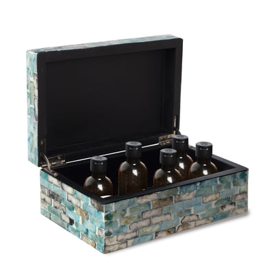 Made Terra Storage Box Set 1 Mother of Pearl Inlay Multi Functional Storage Box Organisers with Lid for Small Items