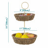 MadeTerra Storage basket 2 Tier Fruit Basket Wire Fruit Bowl and Hanging Holder, Storing & Organizing Basket