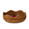 madeterra.uk Bowl Premium Rattan Woven Fruit Basket Bowls | Handmade Wicker Decorative Bread Fruit Snack Food Storage Bowl Chic Rustic Boho Tabletop Countertop Dining Table Kitchen Decor | Great Housewarming Gift