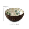 madeterra.uk coconut bowl Made Terra Mother of Pearl Inlay Coconut Bowls and Wooden Spoons Set 2 | Vegan Organic Salad Cereal Smoothie Buddha Acai Bowl for Kitchen, Dining and Decoration