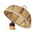 madeterra.uk Food tent Bamboo Wicker Food Cover Dome Mesh Round Food Tent Food Cover Net Keep Out Flies, Bugs, Mosquitoes for Home Kitchen Picnic