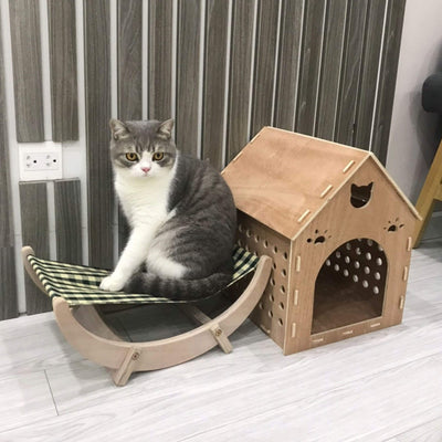 madeterra.uk Made Terra Cat Hammock Rat Pet Hanging Bed for Cat Hamster Parrot Squirrel Hedgehog Small Animals Plywood