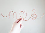 Load image into Gallery viewer, Cursive Initials Heart Sculpture