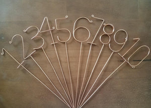 Wire Table Numbers