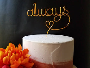 Always Rustic Wire Cake Topper