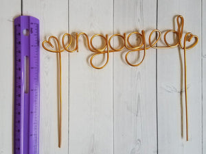Engaged Rustic Wire Cake Topper