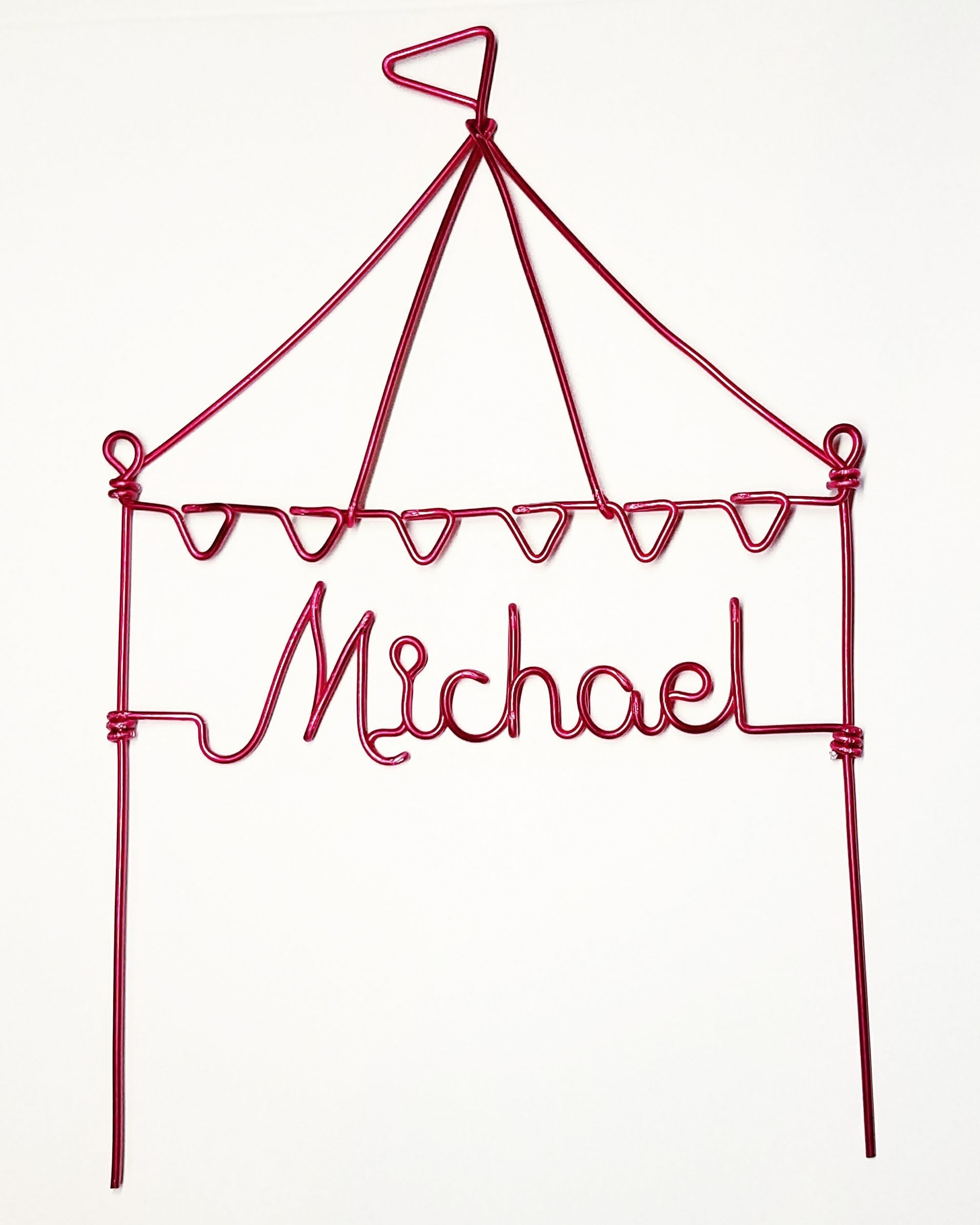 Circus Tent Wire Cake Topper