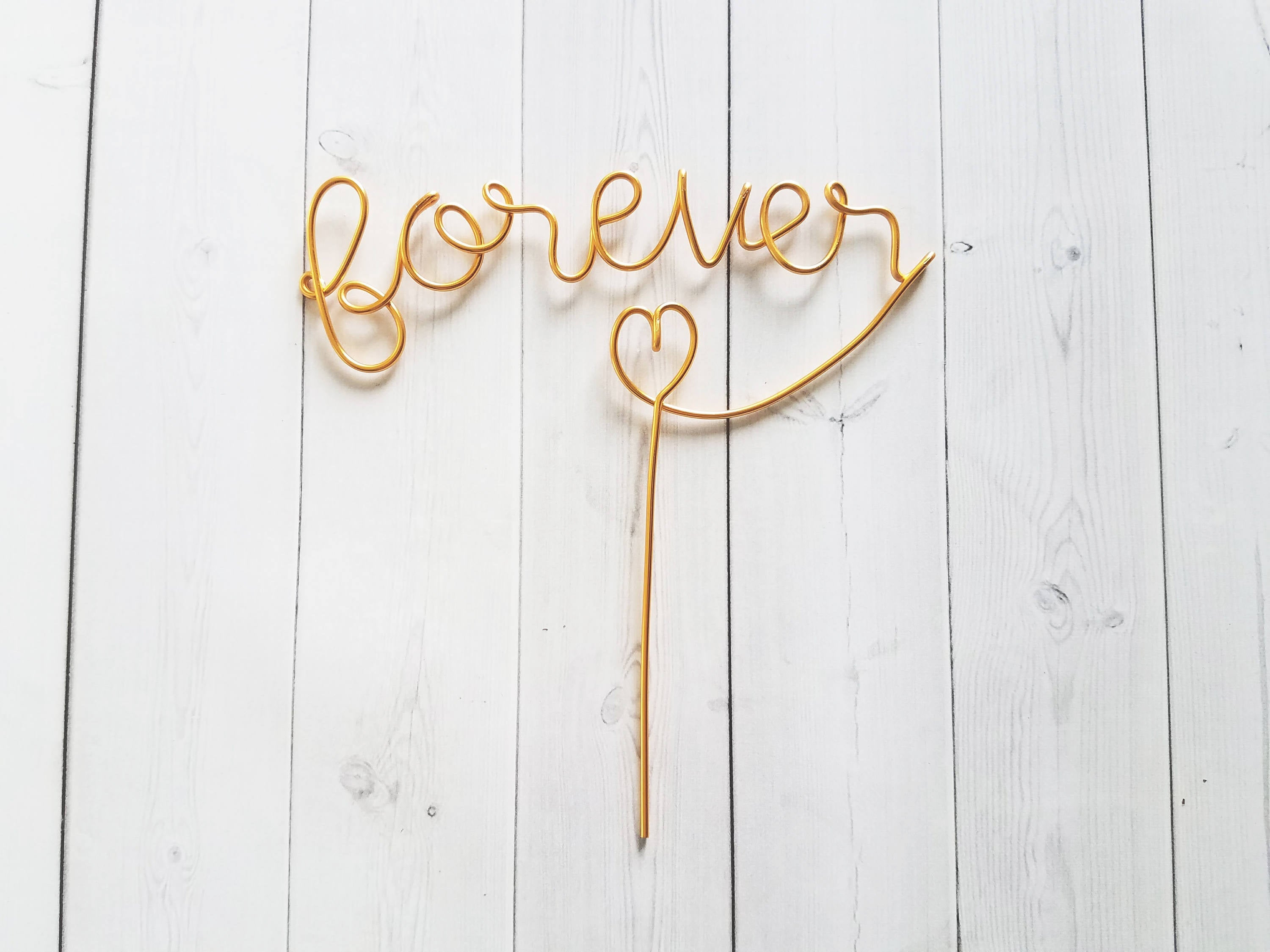 Forever Wire Cake Topper
