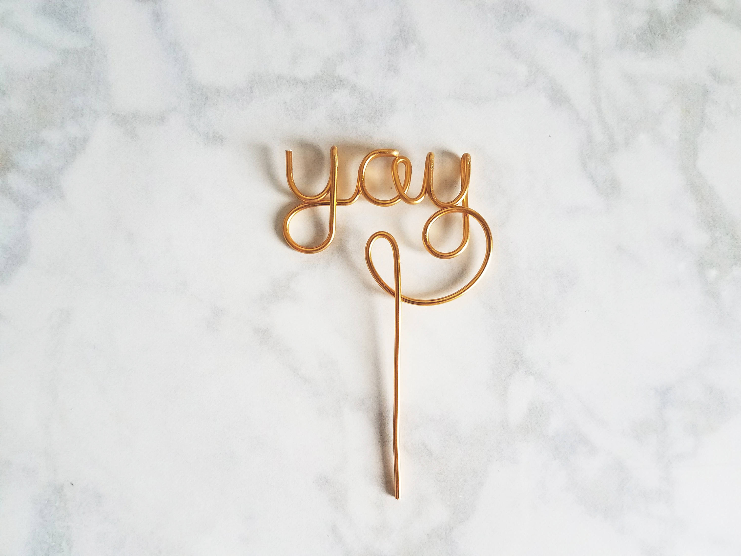 Enjoy Yay Tasty Wire Cupcake Toppers - Set of 3