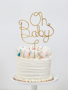 Oh Baby Wire Cake Topper