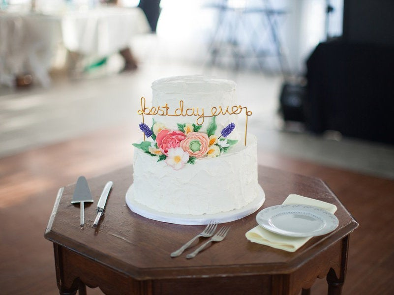 Best Day Ever Wire Cake Topper