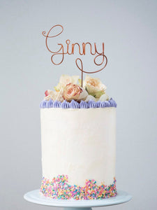 Name Wire Cake Topper