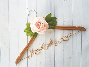 Bride Hanger With Peony Flower